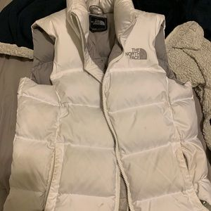White north face vest